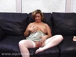 Mature Bitch Masturbating And Squirting