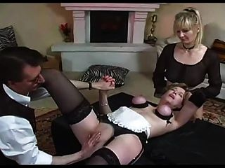 Lady And Maid Tied And Fisted