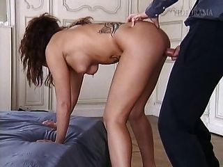 Pierced And Tattooed Slut Taking It Up Her Ass And Pussy