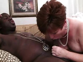 Bbw Mom June Taking On A Bbc