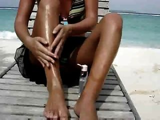Sexy Wife Masturbating At The Beach