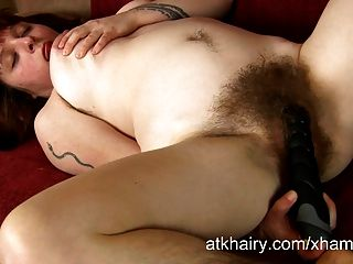 Super Hairy Girl Velma Fucks Her Rubber Dick