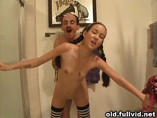 Teen Girl Rides Old Man