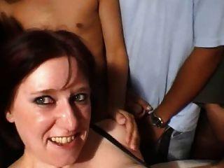 A La Douche ...de Sperme, French Mature In Gang Bang