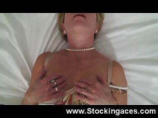 Horny Mature Slut Fucks Herself