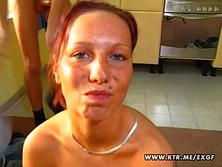 German Amateur Girlfriend Sucks And Fucks With Cumshot