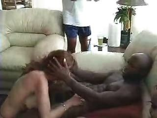 White Slut Blows Multiple Black Guys