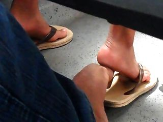 Real Hidden Footsie With Woman In Bus She Likes