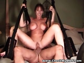 Amateur Milf With Huge Tits On Sex Swing
