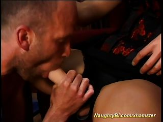 Blonde Doll Fucks Bisexual Fellows