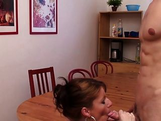 Awesome Hot Milf Fucked On The Dining Table