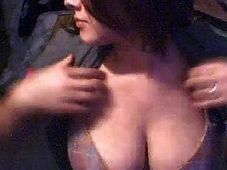 Young Big Titted Amateur Brunette Playing With Her Big Tits