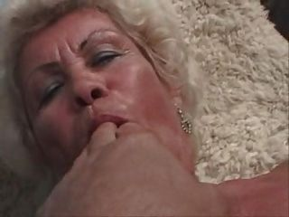 Blonde Old Granny Plays Fingers Spreads Sucks And Fucks