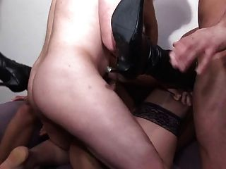 French Slut A10 Mature Gangbang Dp