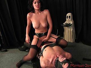 image Mistress emily beats facesits fucks and milks huge male