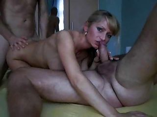 Amateur Gangbang Of A Hot Cheating Wife!