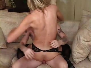 Hot Blonde Granny Keri Banging Young Stud