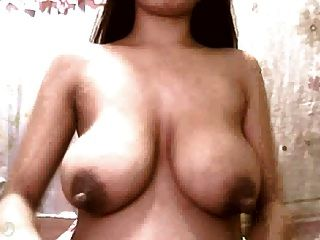 Preggy Girl With Huge Saggy Tits And Big Dark Nipples