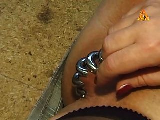 Heavy Pierced Slave With Lots Of Rings In Her Pussy