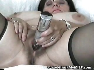 Amateur Bbw Milf With Her Toy