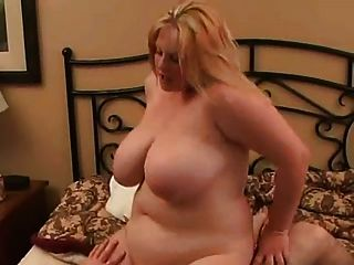Fat Bbw Blonde Gf Riding Cock, Anal And Cum Swallow-2