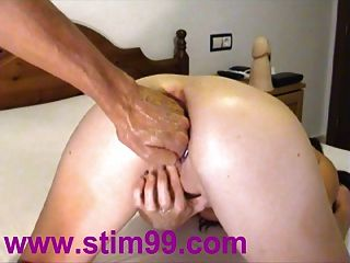 Double Fisting Dildo Toilet Brush Deep Throat Swallowing Cum