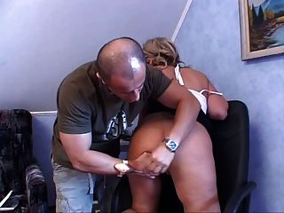 Granny Gets A Ass Pounding