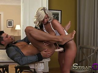 Strapon Sexy Babes Fucking Thier Men In The Ass With Strapon