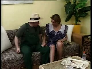 German Housefrau Fucks The Gardener