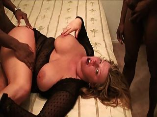 Milf In Boots Gets Fucked By Black Cocks