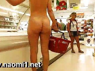 Naomi1 Supermarket Naked