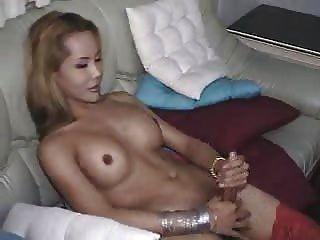 Ladyboy Shemale Cums