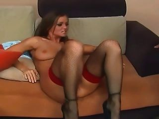 Fucking And Anal In Thigh High Fishnet Stockings