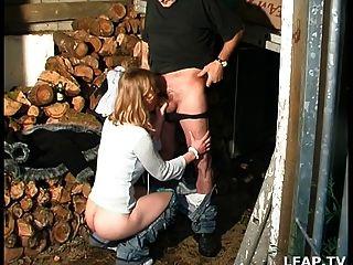 Petite Blonde Sodomisee Par Papy Et Son Mec