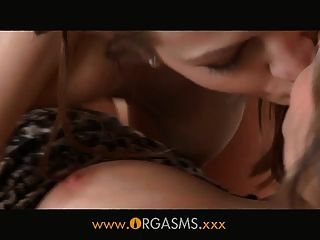 Orgasms - She Surprises Her Lesbian Lover