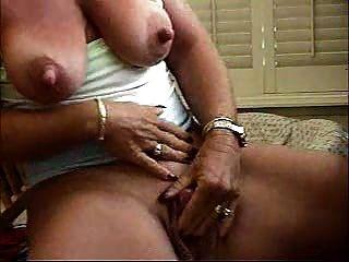 Slut Granny Fingering Her Big Clit