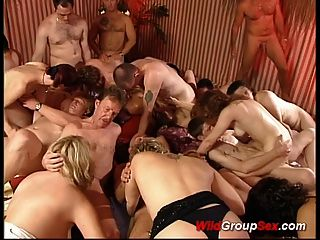Wild Group Sex So Many People Fucking And Sucking Cocks