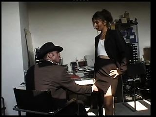 Arab Slut Sucks And Fucks In The Office