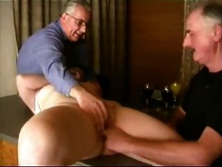 Two Old Men On One Pussy