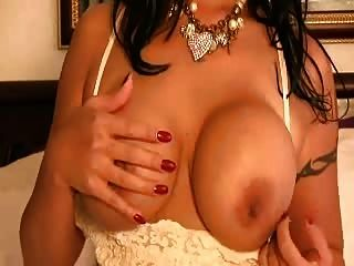 Busty Asian Playing With Her Tits And Hard Nipples