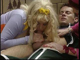 Kirsten Halborg In Yellow Stockings