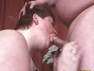 Bbw Getting A Faceful Of Cum
