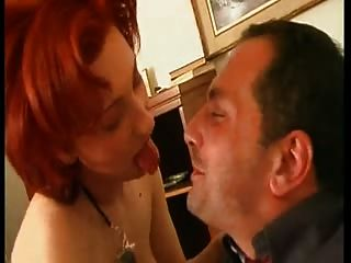 Hot Sexy Redheaded Milf Dicked By Two Cocks