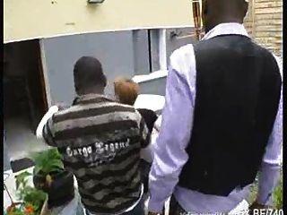 French Redhead Fucked By Blacks Cocks