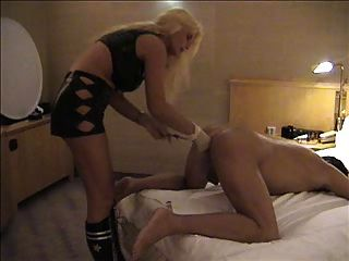 Lisa Berlin Plays With Large Steel Balls In A Slaves Ass!