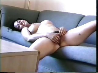 Gorgeous Black Haired Brunette Playing With Her Hairy Pussy!