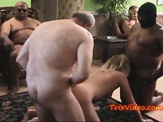 Group Of Slut Grannies Get Gang Banged..