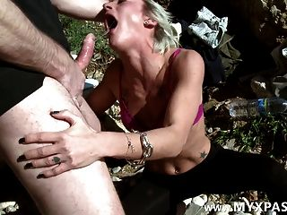 Deep Throat, Slapping And Anal Pounding On The Beach