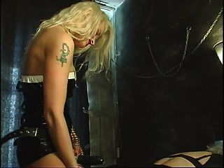 Hot Strap-on German Mistress And Sissy