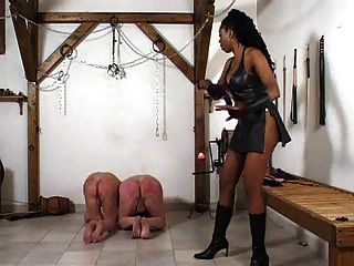 A Black Mistress Punishes Her White Slaves